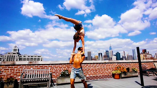 Brittany-Taylor-practicing-hand-to-hand-on-a-New-York-City-rooftop